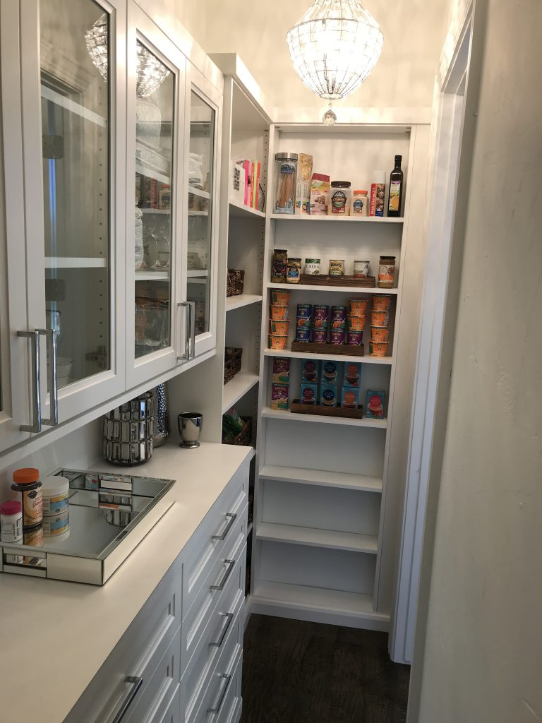 So much food and no where to put it! That is a common kitchen pantry dilemma. Boxes, cans, and bags stuffed on shelves is what you'll find behind many pantry doors. See how we helped this customer create the perfect pantry for their needs. #getorganized #pantryorganization