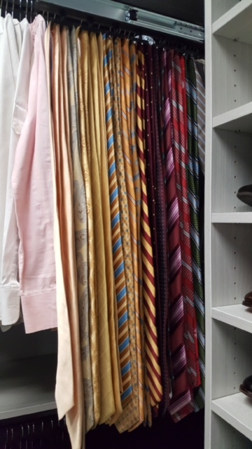 Who says a closet renovation is just for women? There are plenty of dapper dudes out there that are looking for a functional closet to hold their stylish wardrobe. #designyourhappyplace #closetenvy